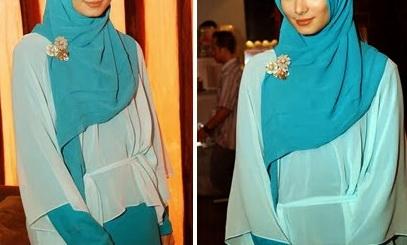 Cara Memakai Hijab Segi Empat Modern