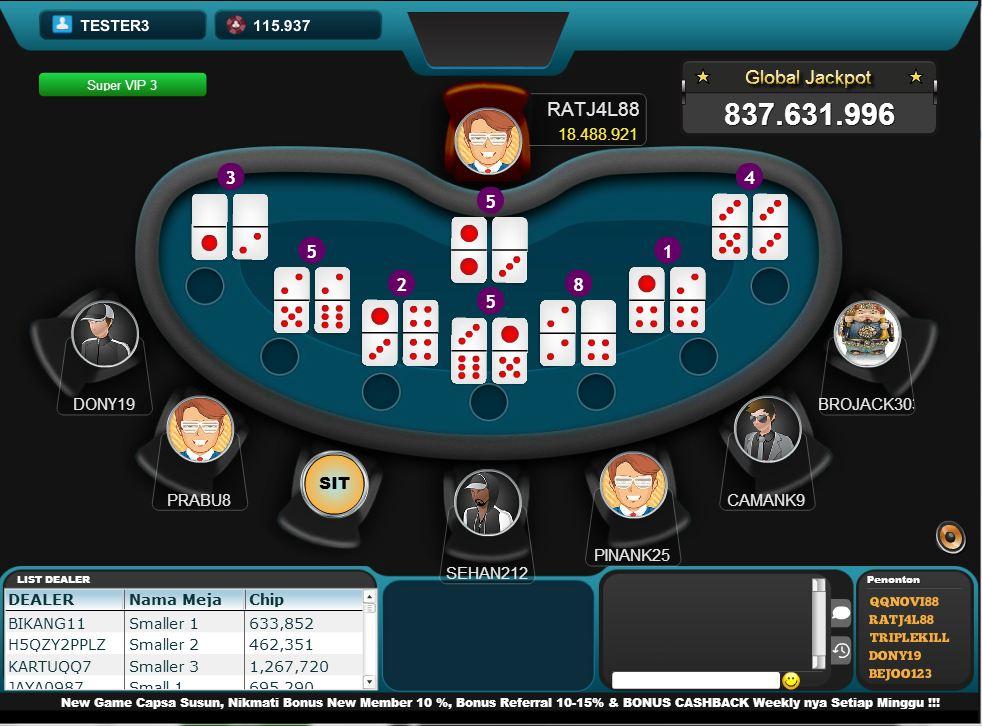 Kombinasi Kartu yang Perlu Anda Ketahui Dalam Permainan Domino QQ Online