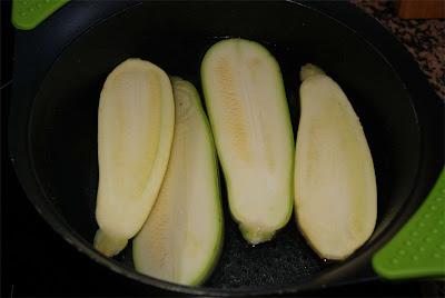 Receta de calabacines rellenos paso 1