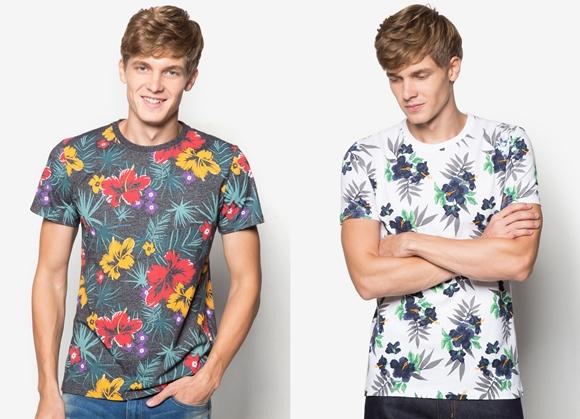 Baju Lelaki Terkini Jenis Floral Printed Superdry