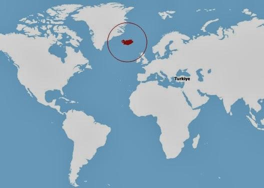 izlanda harita