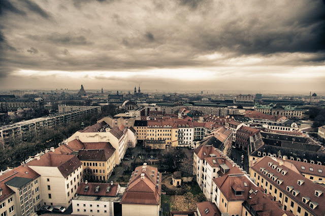 Panorama dal campanile della Dreikonigskirke-Dresda