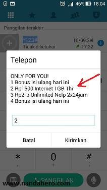 paket internet indosat only for you 1gb 1500