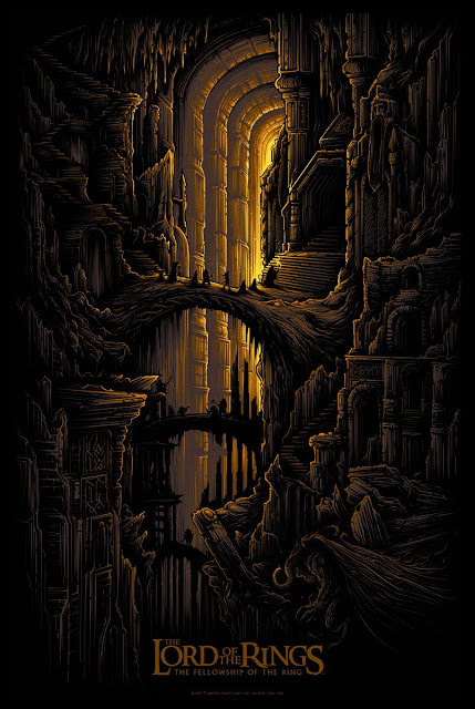 Lord of the Rings The Fellowship of the Ring Screen Print by Dan Mumford & French Paper Art Club