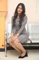 Actress Chandini Chowdary Pos in Short Dress at Howrah Bridge Movie Press Meet  0126.JPG