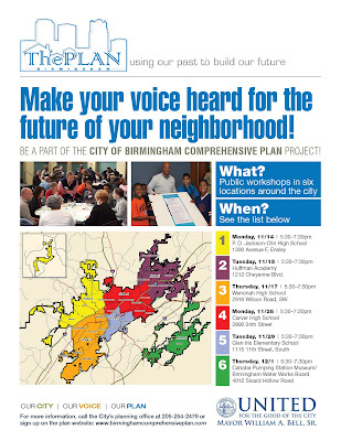 Birmingham City Comprehensive Plan flyer