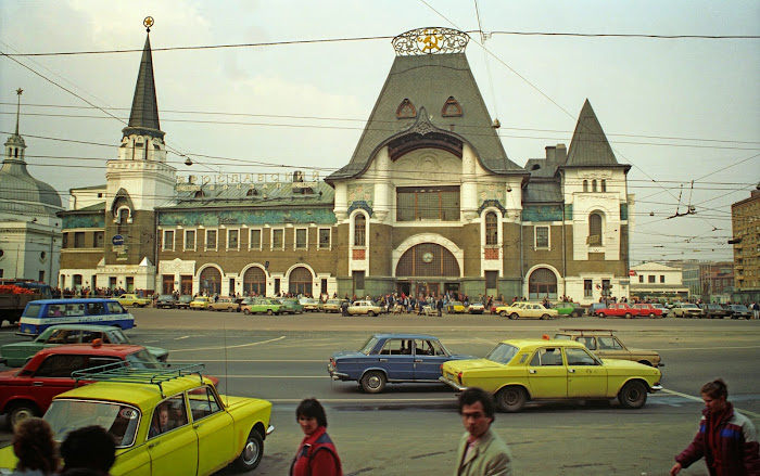 Moscou, gare Iaroslav, Transsibérien, © L. Gigout, 1990