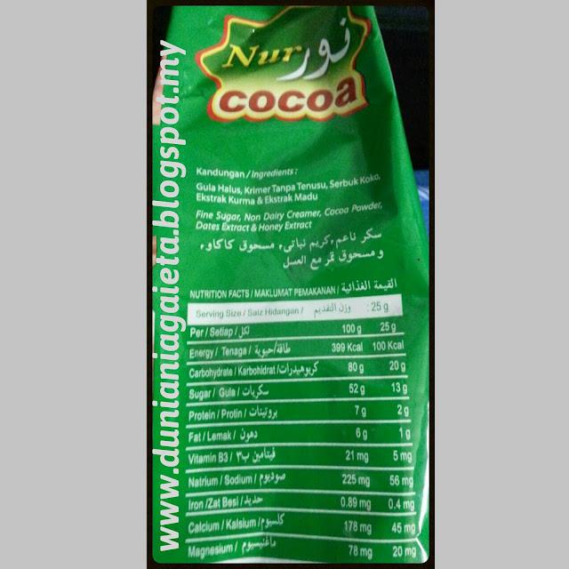 Isi kandungan Nur Cocoa