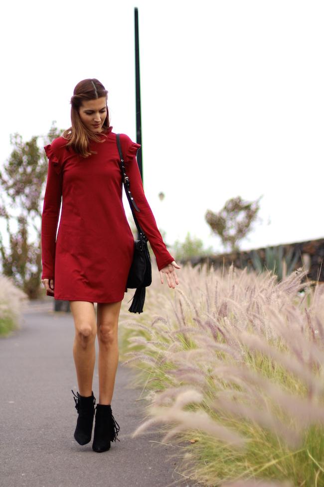 Http M Shein Com Us Red Black Round Neck Plaid Dress P  Cat  Html