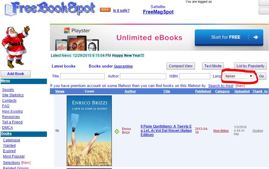 ebook gratis da scaricare in italiano per android tv