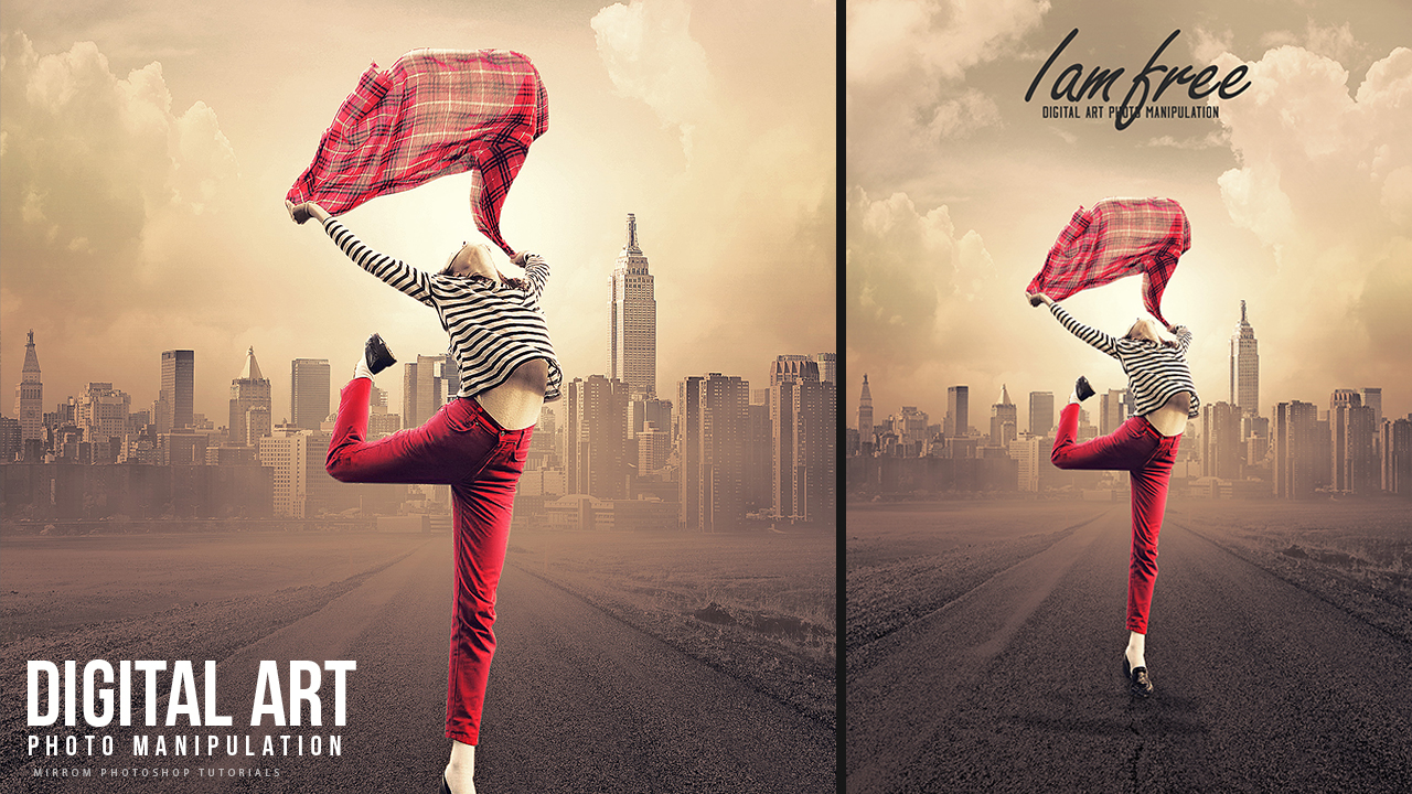 Create This I Am Free Concept Art Photo Manipulation In Photoshop