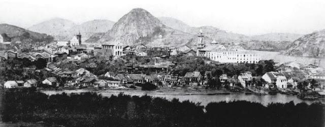 Foto produzida pela equipe de visita do Imperador D. Pedro II, tirada da Casa de Misericórdia. 1867.