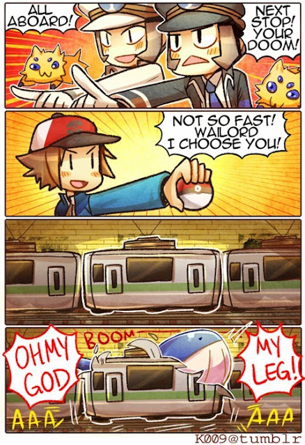 Don't choose Wailord on a train comic