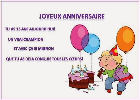 Joyeux 11th Anniversaire//Happy 12th Anniversaire//Happy 13th Carte D/'Anniversaire Garçon Fille