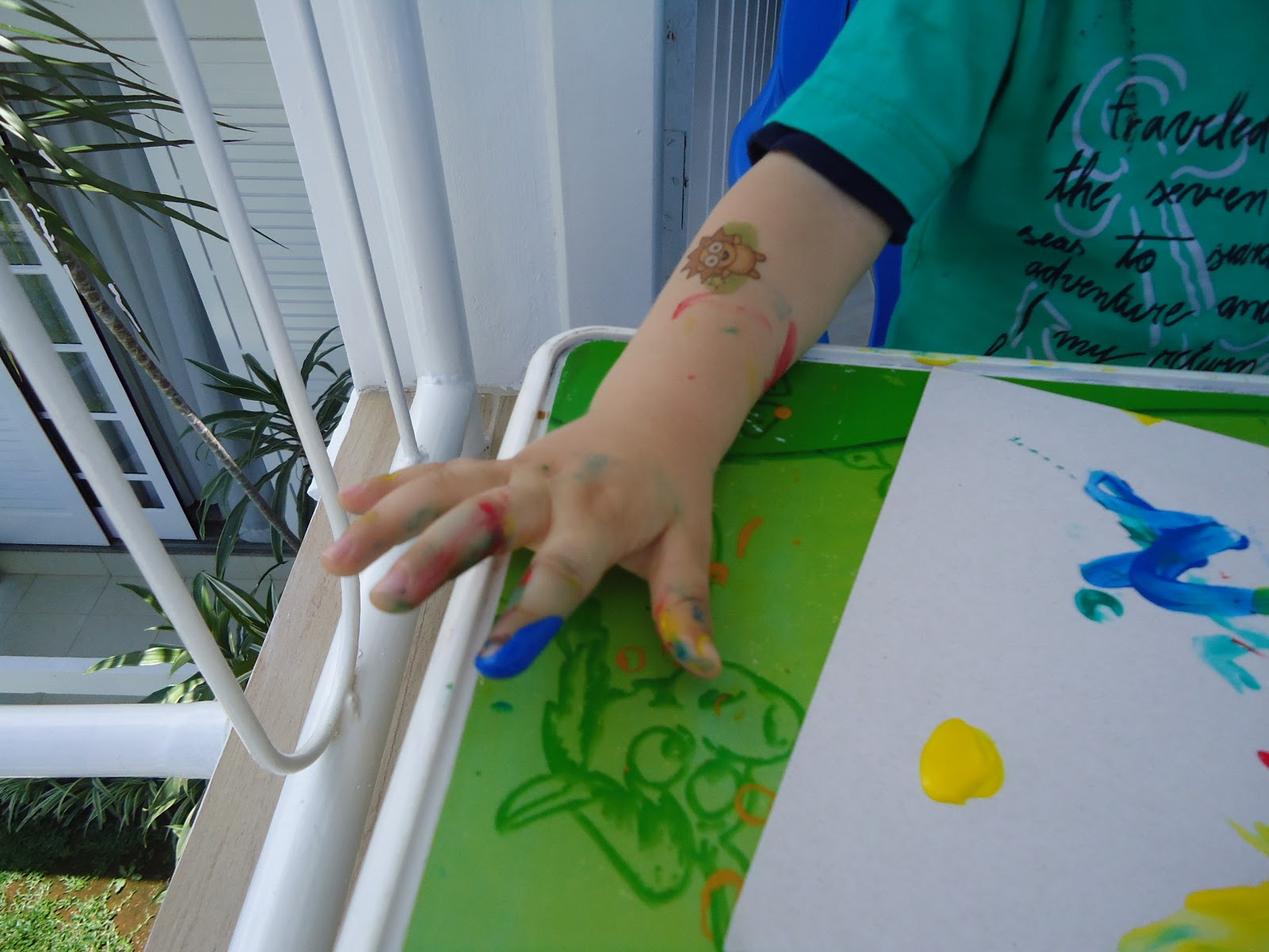 Pintando com tinta