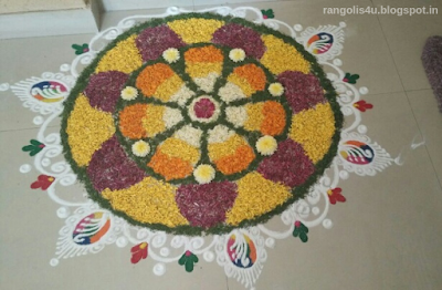 Top Creative Flower Rangolis