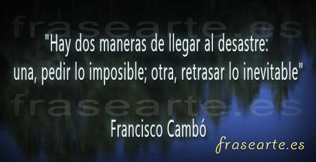 Frases de Francisco Cambó