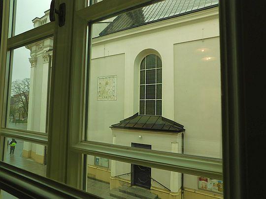 Widok z okna kuchni, z mieszkania Wojtyłów.
