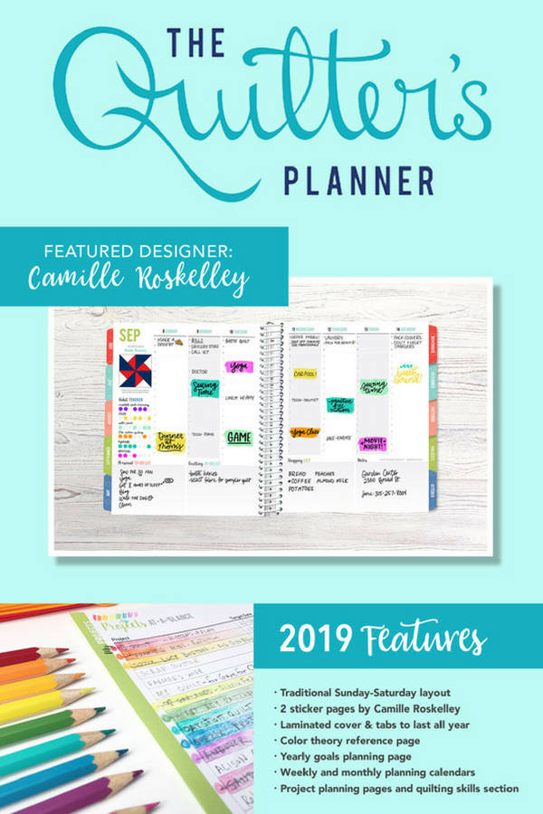 The 2019 Quilter's Planner Features | Shannon Fraser Designs