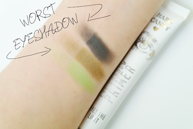 Hard Candy Eyes The Limit Eye Shadow Primer Review SWATCH SWACTHED SWATCHES