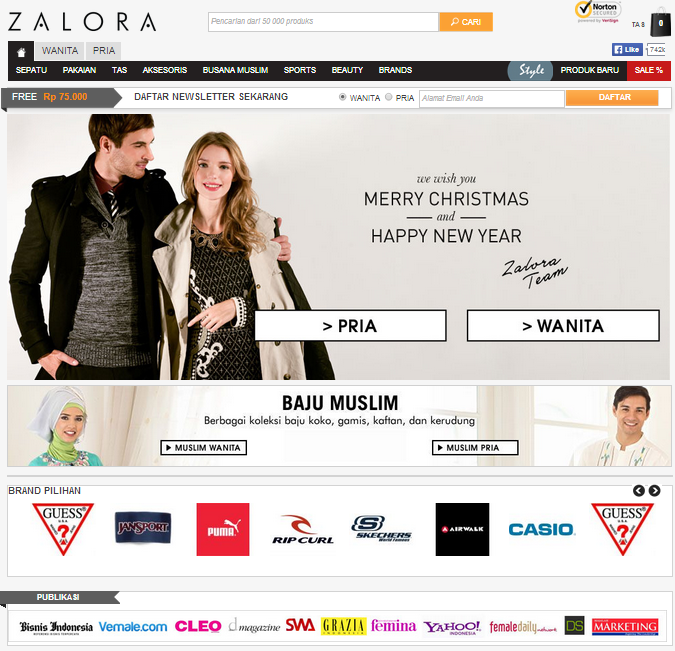 toko online Zalora