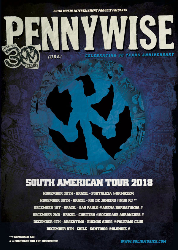 Pennywise announce South American Tour 2018