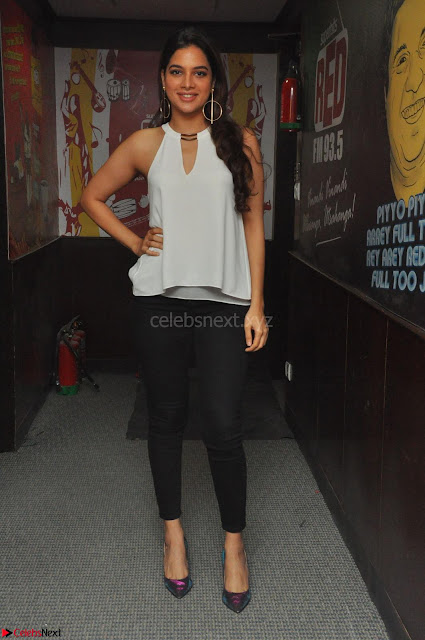 Tanya Hope in a whtie shirt and leggings at Song launch of Movie Patel Sir ~  Exclusive Celebrities Galleries 001.JPG
