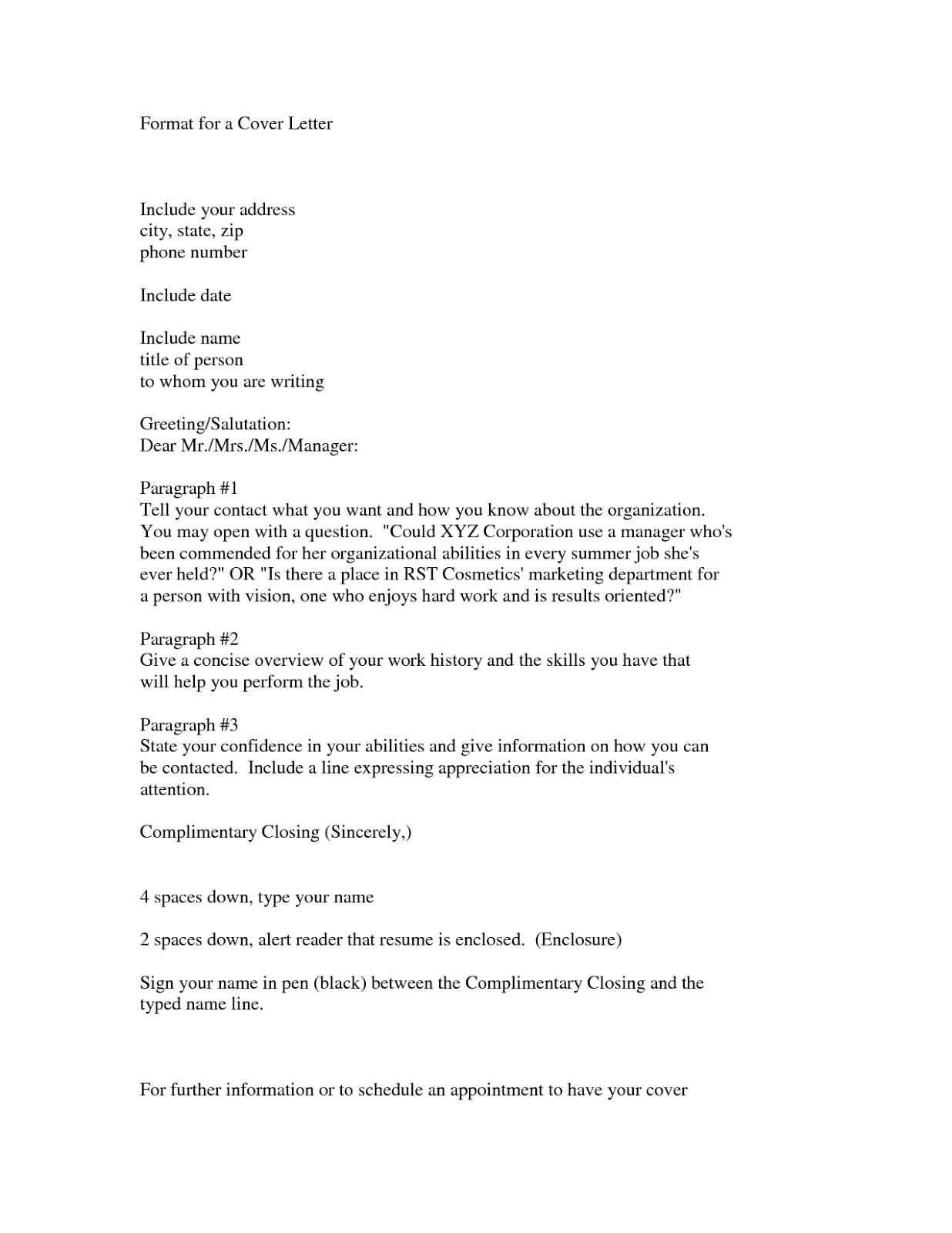 sample internal cover letter job posting