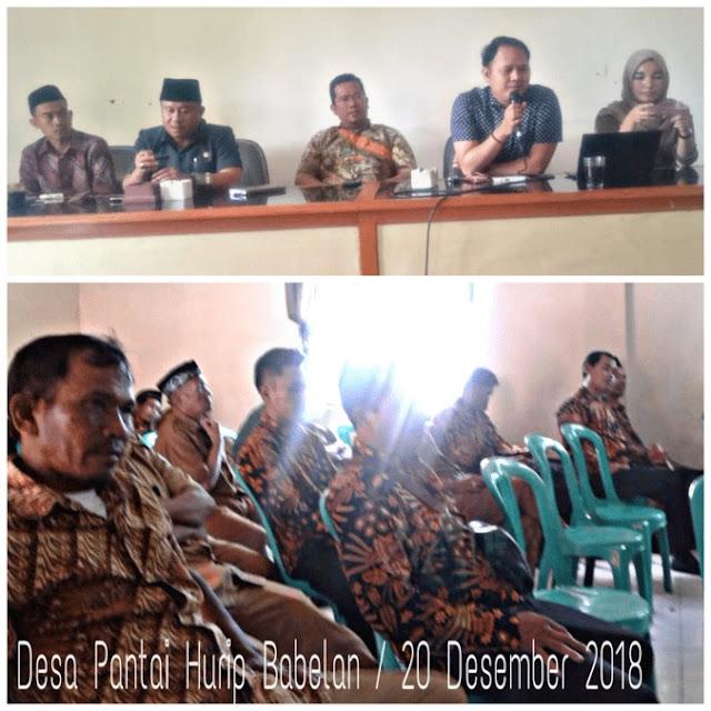 Forum Bumdes Sosialisasi di Rapat Minggon Desa Pantai Hurip