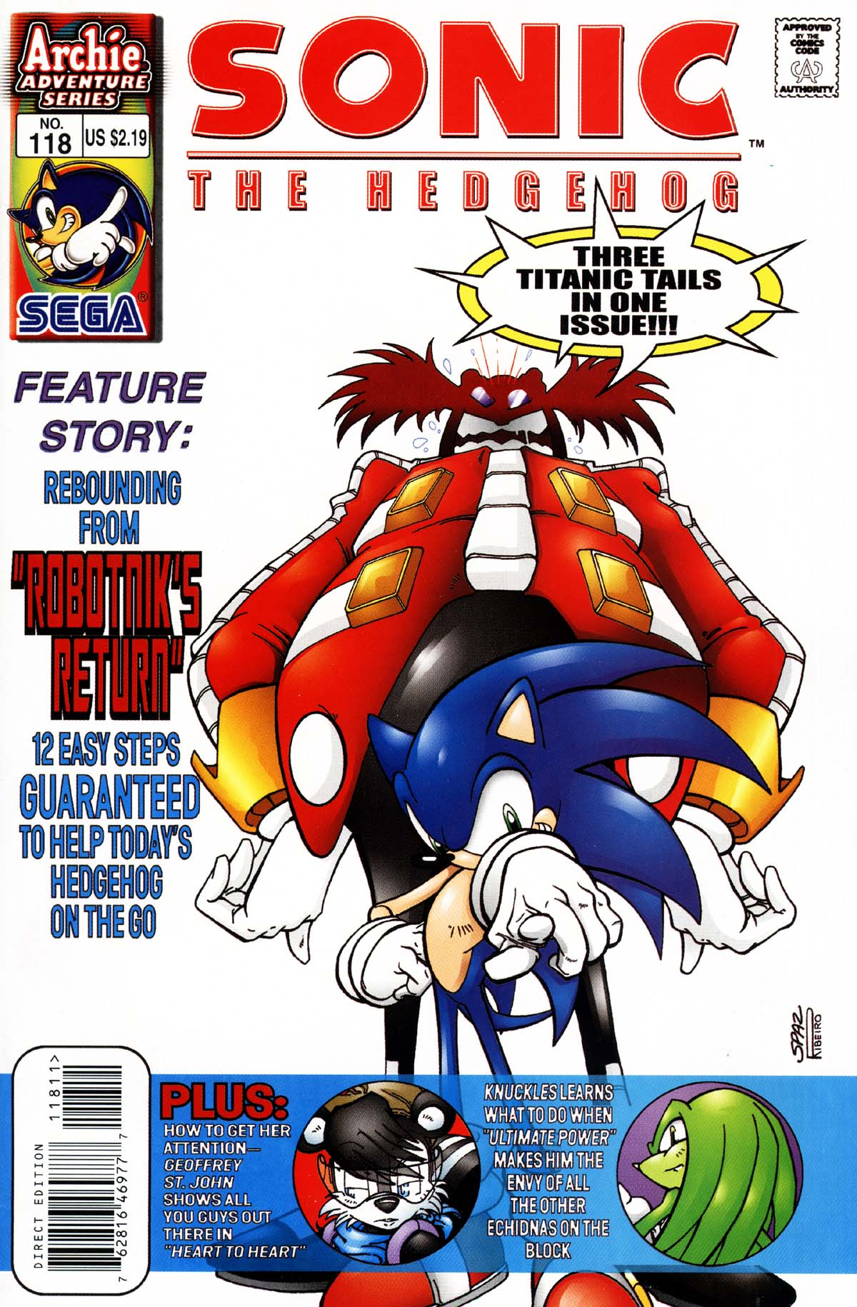 Read online Sonic The Hedgehog comic -  Issue #118 - 1