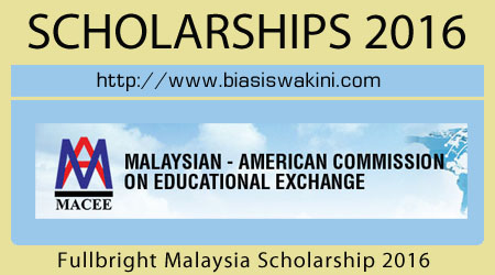 Fullbright Malaysian Scholar Program 2016