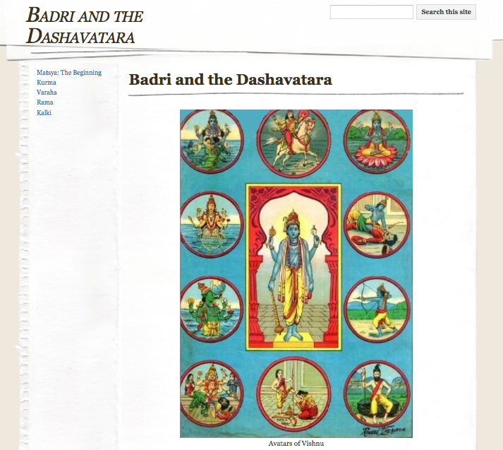 Indian Epics: Readings And Resources: Project Idea: The