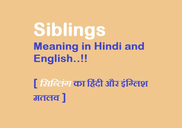 siblings-meaning-in-hindi-english