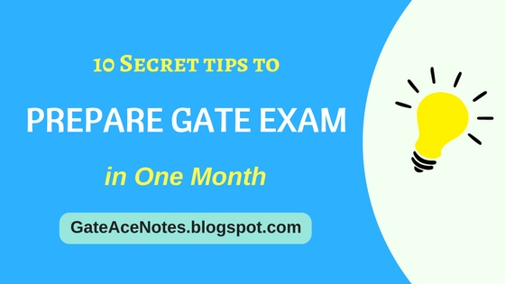 prepare gate exam, crack gate exam