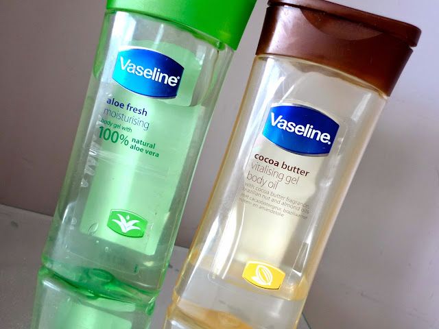 vaseline Body Oils Review aloe vera cocoa butter skincare