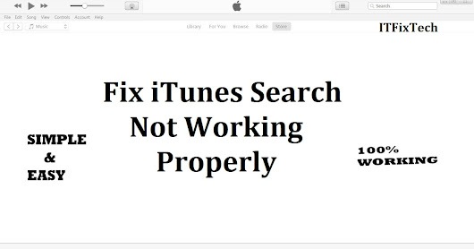 iTunes Search not Working Properly
