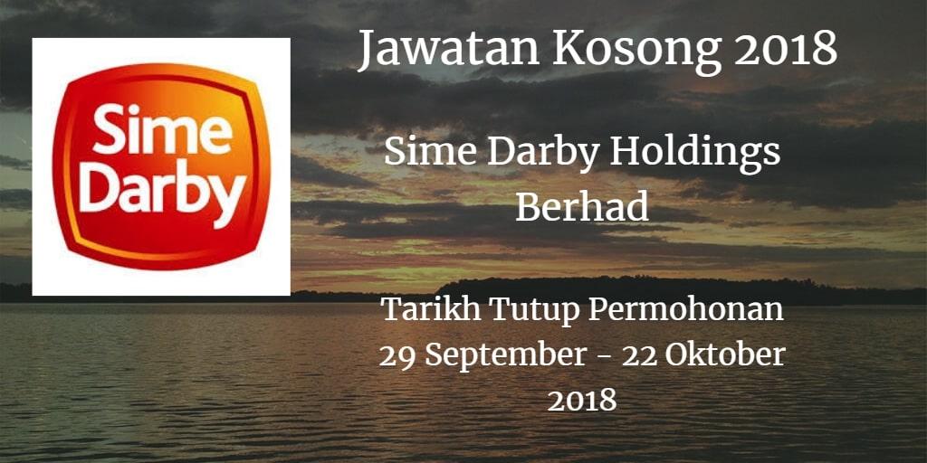 Jawatan Kosong Sime Darby Holdings Berhad 29 September - 22 Oktober 2018