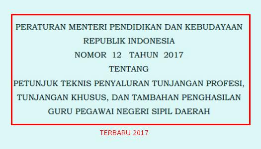 Kriteria dan Persyaratan Penerima Tunjangan Profesi Guru Bagi Guru PNSD Sesuai Permendikbud Nomor 12 Tahun 2017