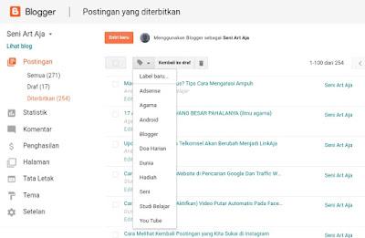 Cara Menghapus Label  Pada Blog Selamanya