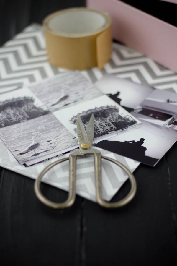 Mit Fotos, Schere und Papier zum selbstgemachten Weihnachtsgeschenk