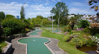 Crazy Golf course in Goodrington Park at Goodrington Sands, Paignton, Devon
