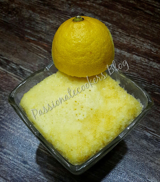 Microwave Lemon Cake