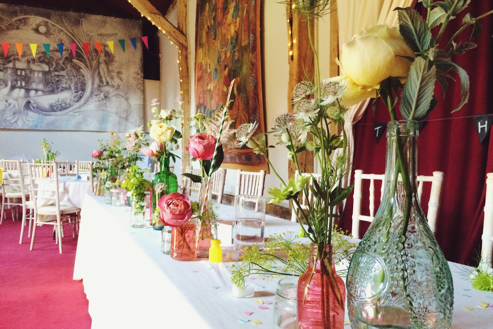 Summer Wedding decorations - rustic style, Combe Manor