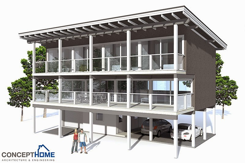 CH98 Raised Beach House Plan | Beach House Plans