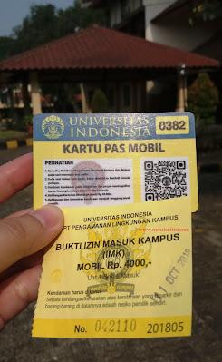 kartu pas mobil dan bukti izin masuk kampus ui universitas indonesia nurul sufitri mom lifestyle blogger kesehatan olah raga