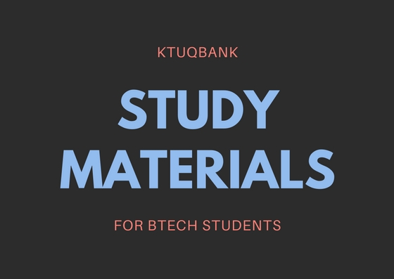 KTU BTech Study Materials Or Notes