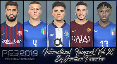 PES 2019 Facepack International Vol 28 by Jonathan Facemaker