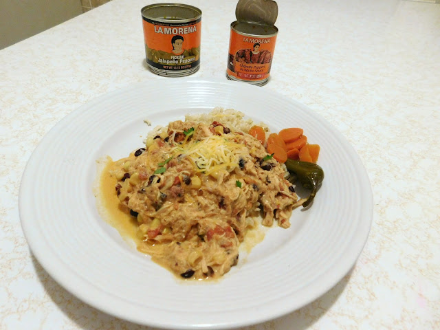 Easy, Creamy Jalapeno Slow Cooker Pulled Chicken with LA MORENA®