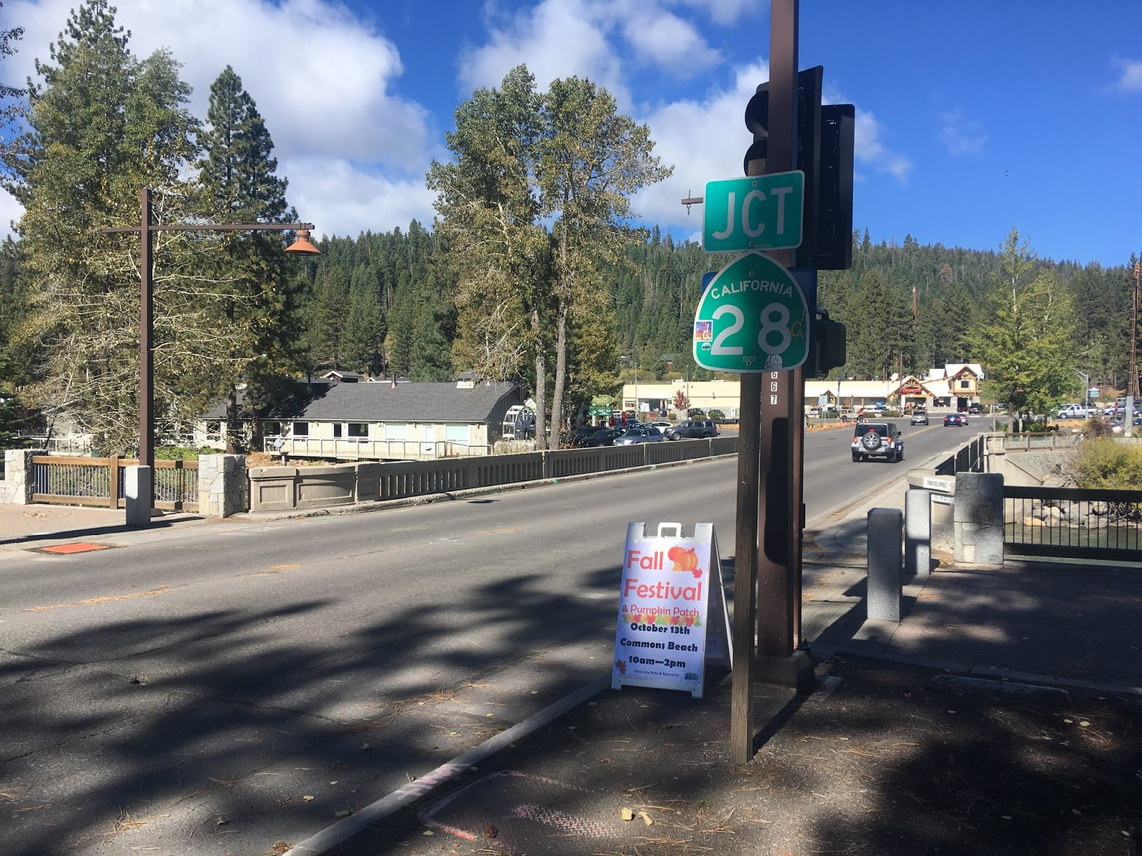 at the truckee river i crossed the 1928 fanny bridge and headed east along the north shore of lake tahoe towards nevada on california state route 28
