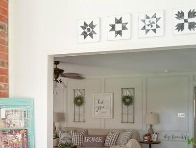 DIY wood barn quilts